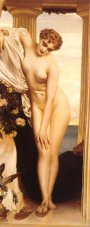 Aphrodite Disrobing for the Bath, by Lord Leighton