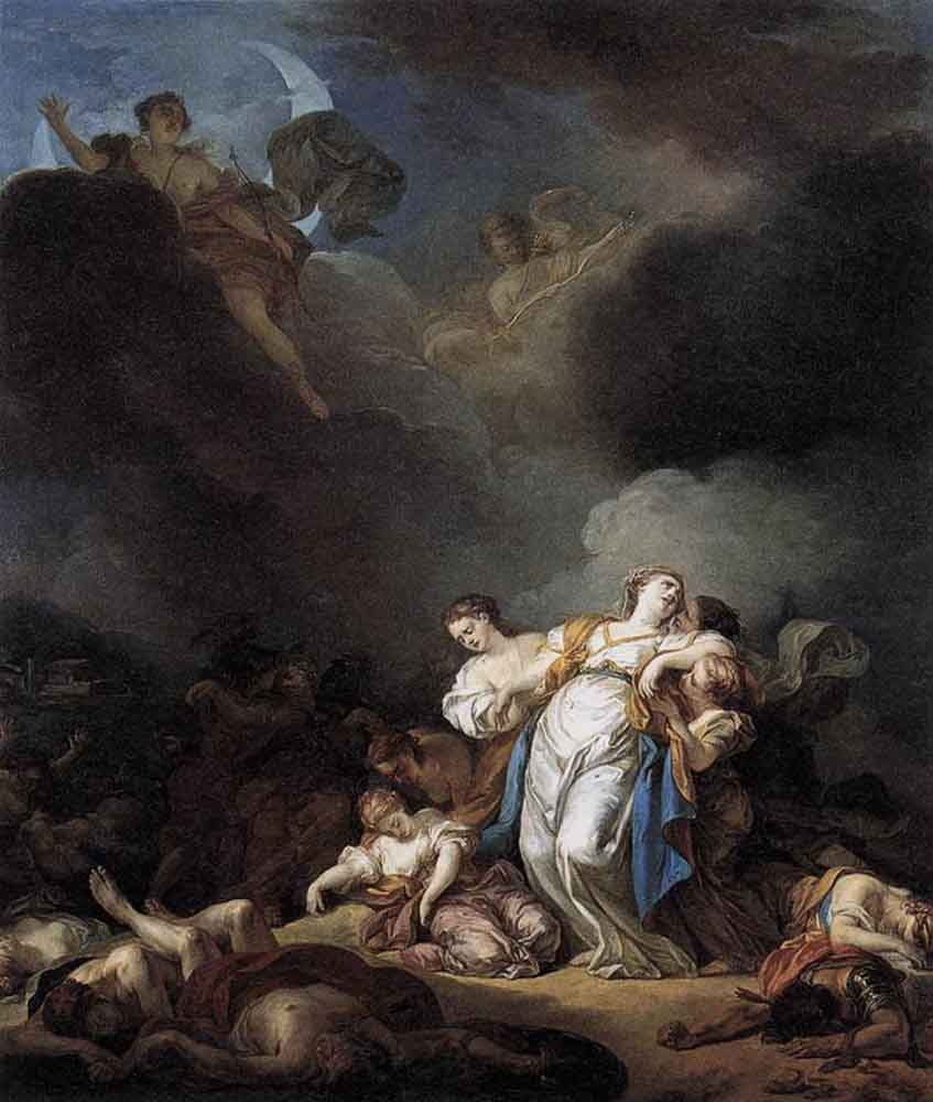 Apollo and Diana Attacking Niobe and Her Children, by Anicet-Charles-Gabriel Lemonnier