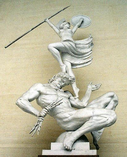 Zeus giving birth to Athena, by Rudolph Tegner