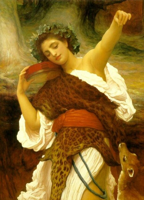 A Bacchante, by Frederic Lord Leighton