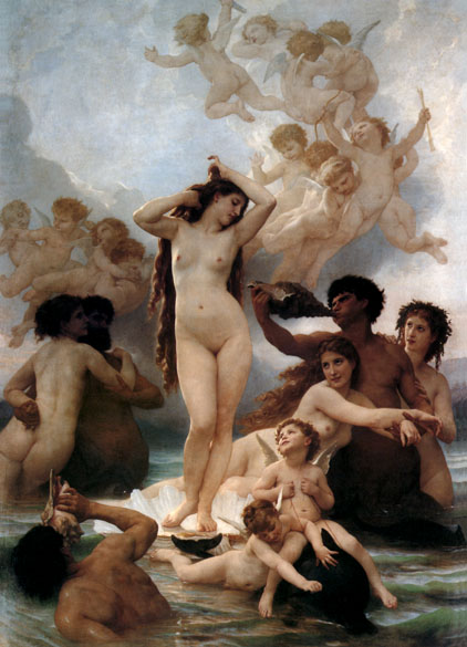 Venus Rising From the Sea, by Bouguereau