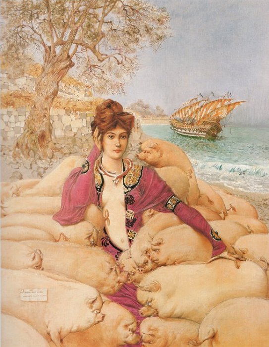 Circe, by Gustave Adolphe Mossa