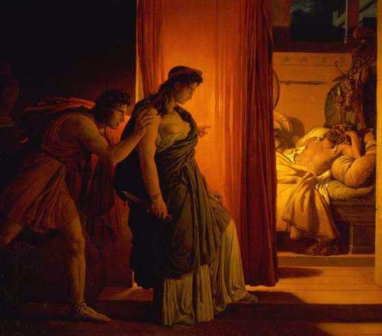The Murder of Agamemnon, by Pierre Narcisse Guerin