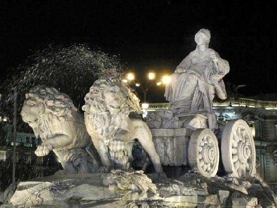 Fountain of Cybele in Madrid