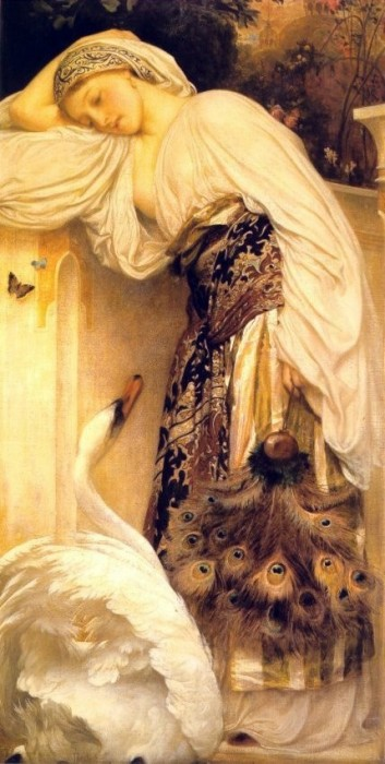 Leda and Zeus, by Frederic Lord Leighton