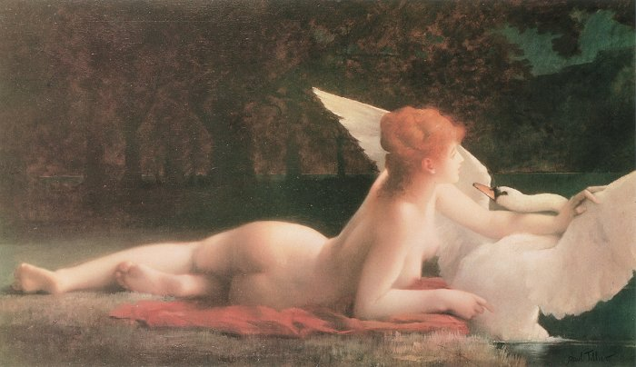 Leda and the Swan, by Paul Prosper Tillier
