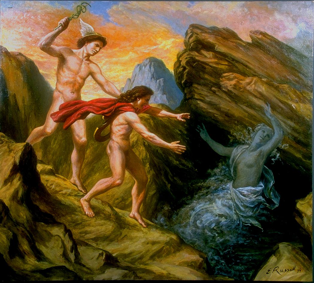 Orpheus and Eurydice, by Elsie Russell