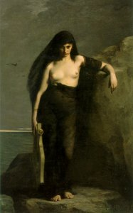 Sappho, by Charles-August Mengin