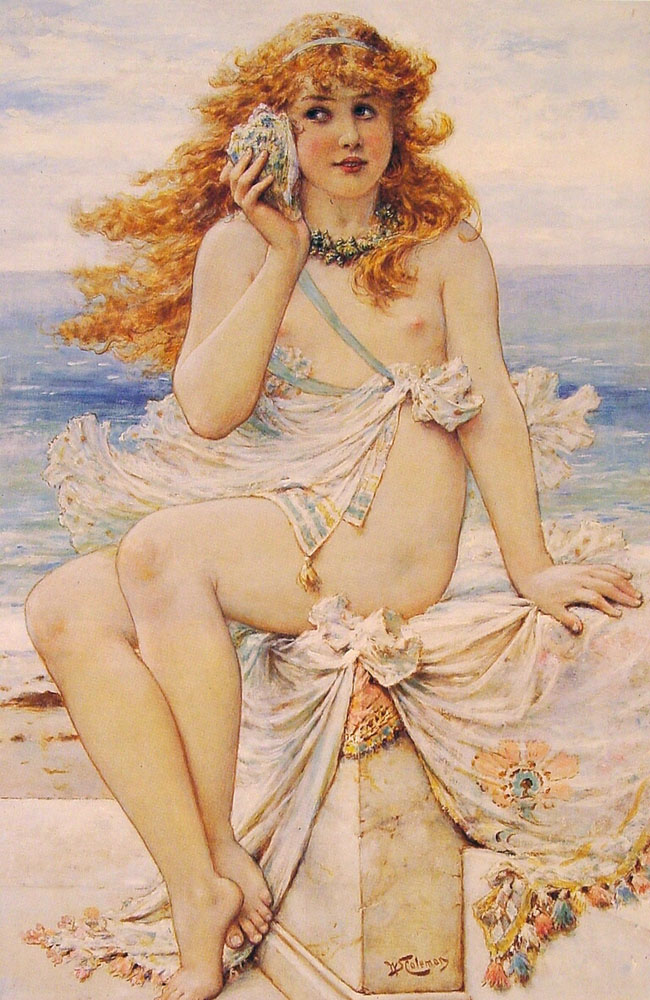 Nymph with a Conch Shell, by William Stephen Coleman