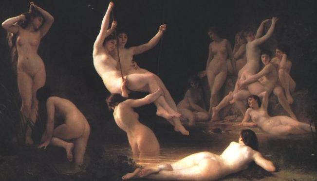The Nymphaeum, by William Adolphe Bouguereau