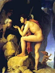 Oedipus Solving the Riddles of the Sphinx, by Dominique Ingres