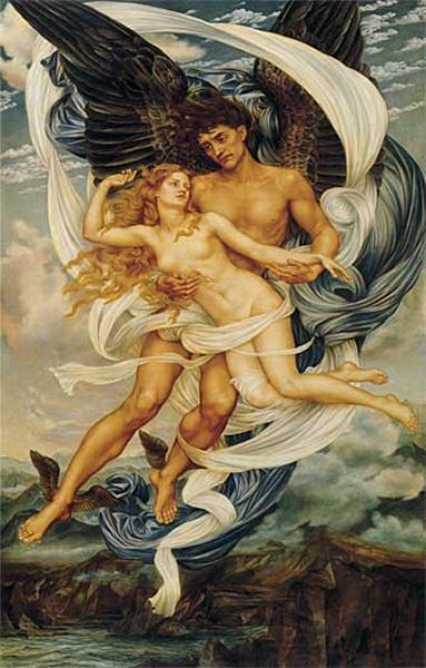 Boreas and Oreithyia, by Evelyn de Morgan