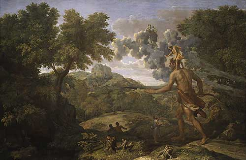 Blind Orion Looking for the Sun, by Nicholas Poussin
