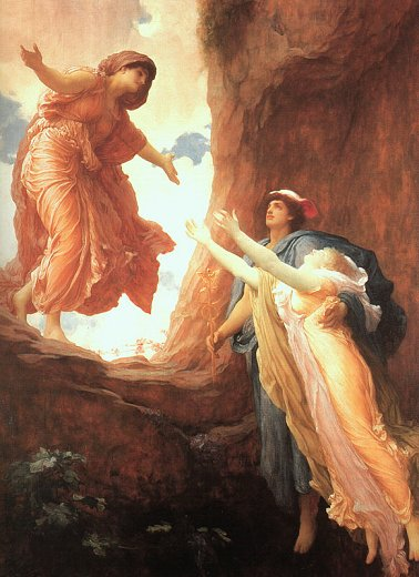 Persephone Returning to the Upper World with Hermes to Demeter, by Lord Leighton