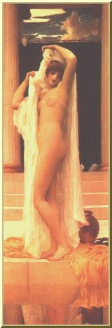 Psyche Taking a Bath, by Frederic Lord Leighton
