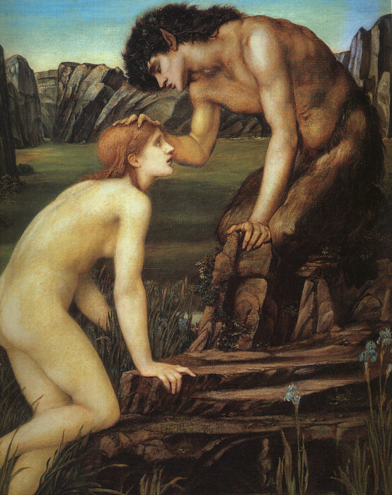 Pan and Psyche, by Edward Burne-Jones