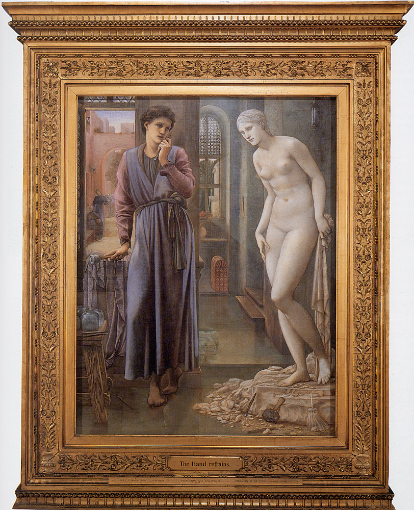 Pygmalion and the Image: II, the Hand Refrains; by Edward Burne-Jones