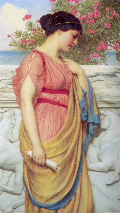 Sappho, by John William Godward