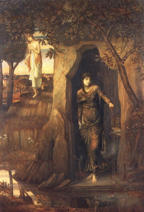 Circe and Scylla, by John Melhuish Strudwick