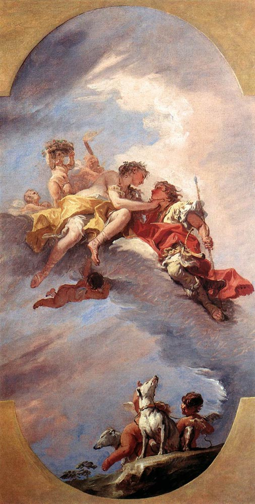 Venus and Adonis, by Ricci