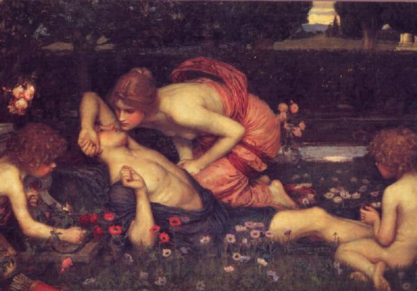 Aphrodite and Adonis, by John William Waterhouse