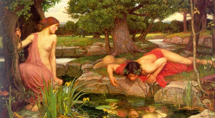 Narcissus and Echo, by John Waterhouse