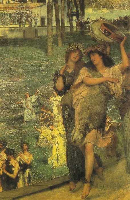 On the Road to the Temple of Ceres, by Sir Lawrence Alma-Tadema
