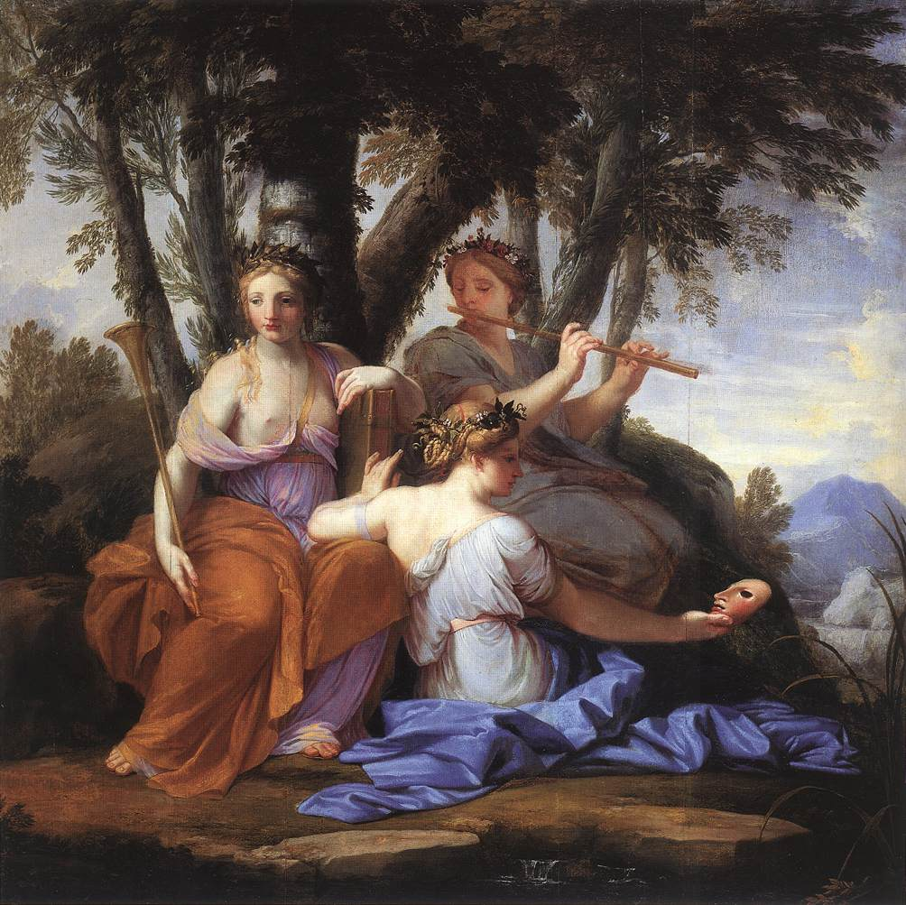 The Muses: Clio, Euterpe and Thalia, by Eustache Le Sueur