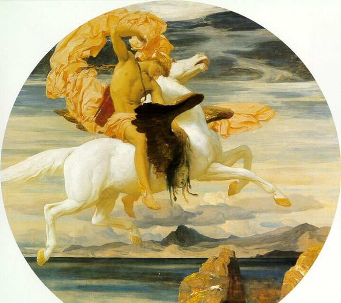 Perseus on Pegasus Hastening to the Rescue of Andromeda, by Frederic Lord Leighton